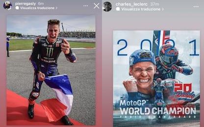Quartararo campione, i messaggi di Gasly e Leclerc