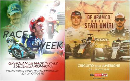 MotoGP a Misano, F1 in Usa: che domenica su Sky!