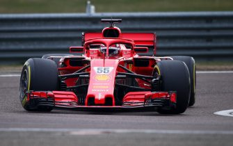 FIORANO CIRCUIT, ITALY - JANUARY 28: Carlos Sainz, Ferrari SF71H during Ferrari Fiorano testing at Fiorano Circuit on Thursday January 28, 2021, Italy. (Photo by Federico Basile / LAT Images)