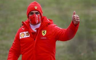 FIORANO CIRCUIT, ITALY - JANUARY 27: Carlos Sainz, Ferrari during Ferrari Fiorano testing at Fiorano Circuit on Wednesday January 27, 2021, Italy. (Photo by Federico Basile / LAT Images)