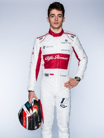 Charles Leclerc (MON) Alfa Romeo Sauber F1 Team at the Alfa Romeo Sauber F1 Team Launch, Hinwil, Switzerland, 20 February 2018.