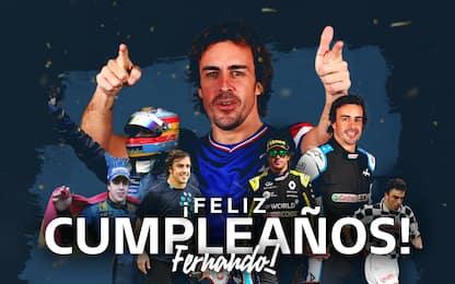 I 40 anni di Alonso: 2 Mondiali, Ferrari nel cuore