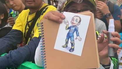 Rossi diventa un manga, fan pazzi per lui a Motegi