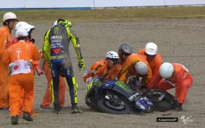 Rossi spiega la caduta a Motegi. VIDEO
