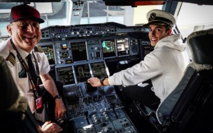 Marquez cambia vita: pilota...d'aereo. FOTO
