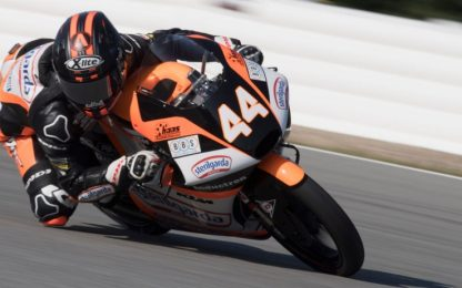 Moto3, Libere 2: Canet 1° davanti a Dalla Porta