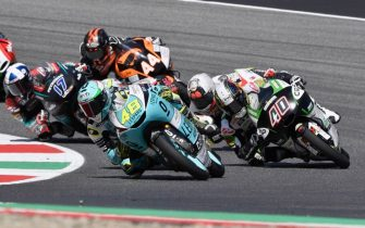 SCARPERIA, ITALY - JUNE 02:  Lorenzo Dalla Porta of Italy and Leopard Racing leads the field during the Moto3 race during the MotoGp of Italy - Race at Mugello Circuit on June 02, 2019 in Scarperia, Italy. (Photo by Mirco Lazzari gp/Getty Images)