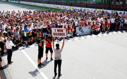 Piloti commossi, 1 minuto di silenzio per Munandar