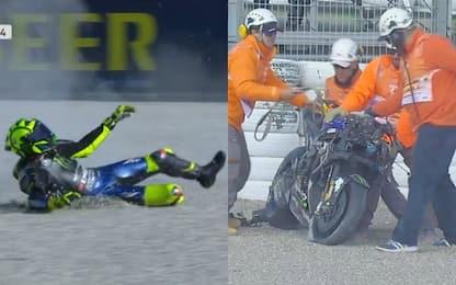 Rossi, prove da dimenticare: due cadute. VIDEO