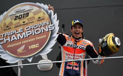 Marquez vince anche a Valencia. 4° Dovi, 8° Rossi