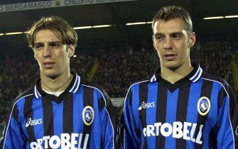 24 Feb 2001:  Twin Brothers Damiano (left) and Cristiano Zenoni of Atalanta during a Serie A 20th Round League match between Atalanta and Bari played at the Azzurri d''Italia stadium, Bergamo. Mandatory Credit: Grazia Neri/ALLSPORT