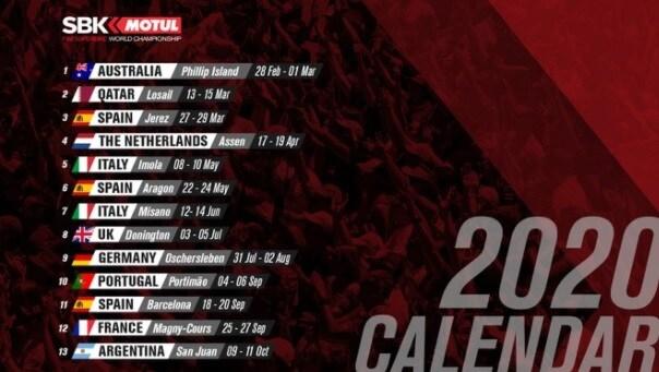 Superbike calendario