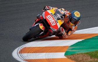 VALENCIA, SPAIN - NOVEMBER 17: Jorge Lorenzo of Spain and Repsol Honda Team during MotoGP Grand Prix Motul de la Comunitat Valenciana on November 17, 2019 in Valencia, Spain. (Photo by Pablo Morano/MB Media/Getty Images)