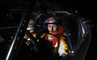 MONZA, ITALY - NOVEMBER 28:  Tony Cairoli of Italy and Matteo Romano of Italy compete in their Citroen DS3 WRC during Day One of the Rally di Monza on November 28, 2014 in Monza, Italy.  (Photo by Massimo Bettiol/Getty Images)
