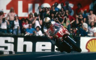 British racing motorcyclist Mike Hailwood (1940 - 1981) riding a Ducati on his way to victory in the Formula One race at the Isle of Man TT races, June 1978. (Photo by Don Morley/Getty Images)