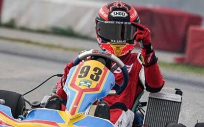 Marquez torna in pista... su un kart