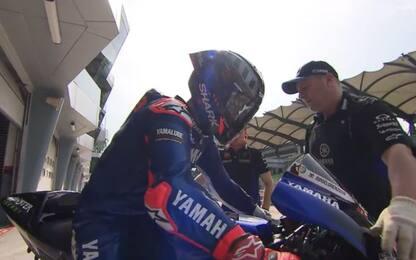 Lorenzo, primi giri sulla Yamaha a Sepang. FOTO