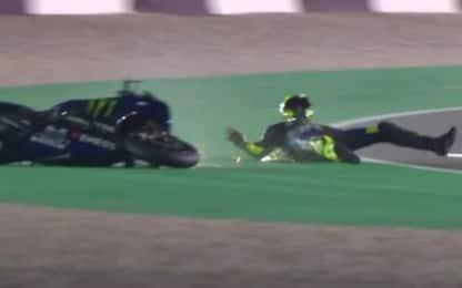 Rossi, caduta senza conseguenze: chiude 12°. VIDEO