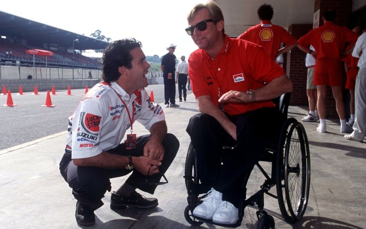 Daryl Beattie e Wayne Rainey nel 1995