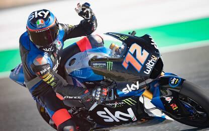 Libere Moto2, Roberts 1° a sorpresa. 2° Bezzecchi
