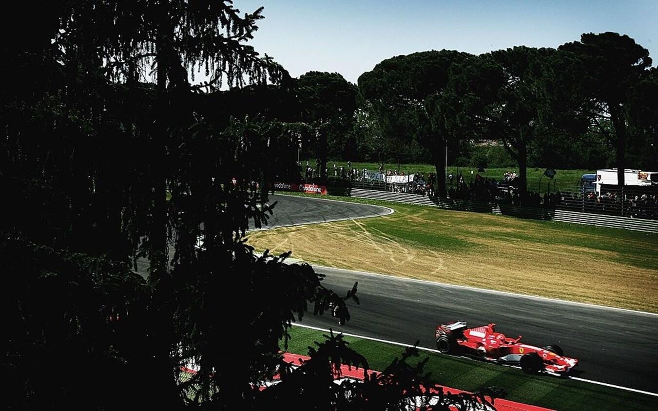 La Ferrari di Michael Schumacher al Gp di San Marino nel 2006