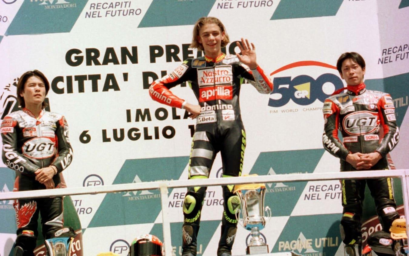 Valentino Rossi ha vinto a Imola con l'Aprilia nel 1997, in 125