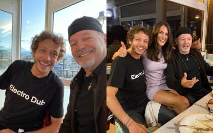Valentino Rossi e Vasco insieme a cena. FOTO-VIDEO