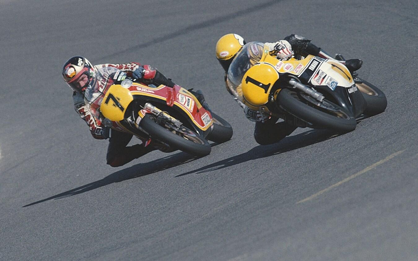 Barry Sheene e Kenny Roberts nel 1979