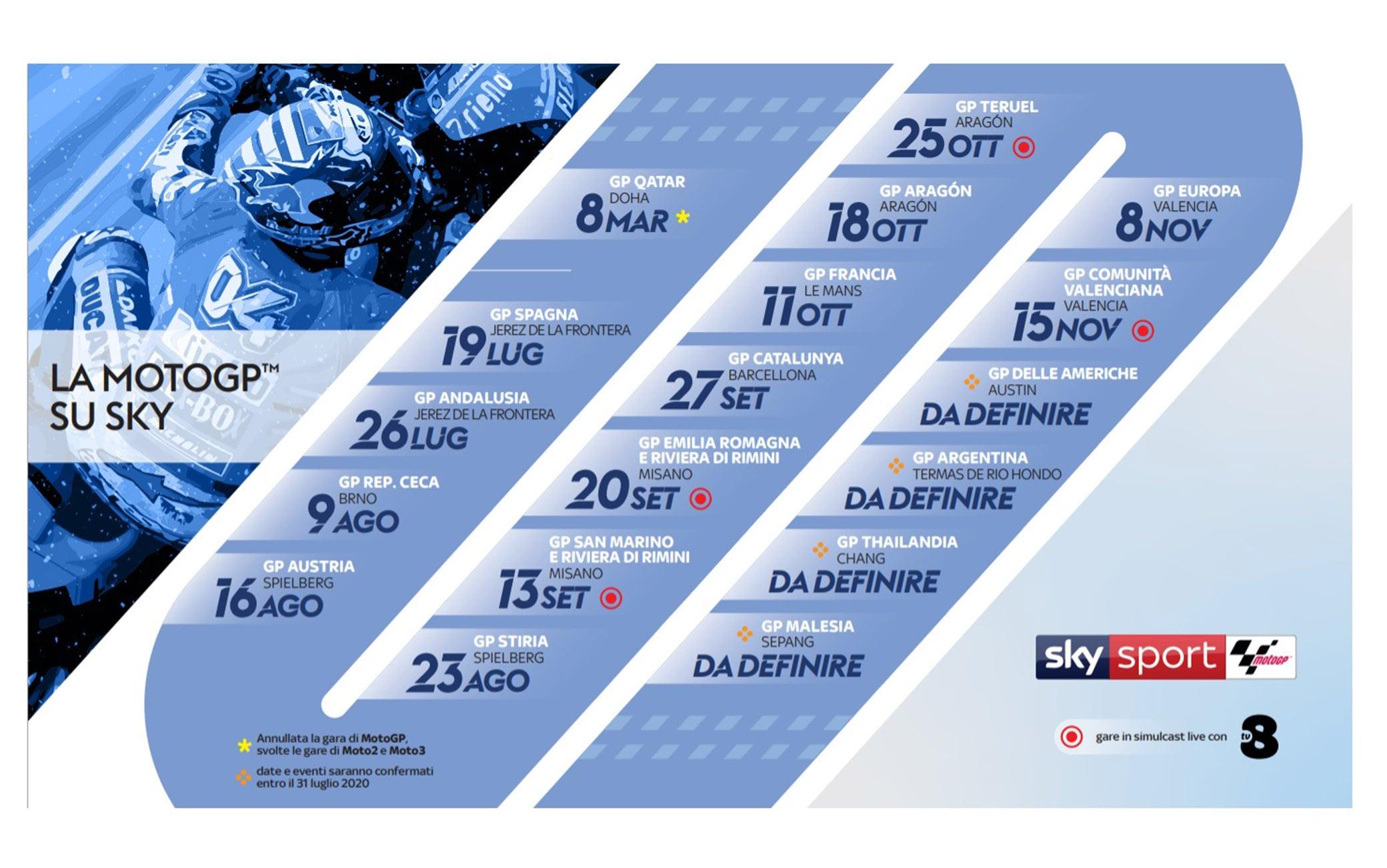MotoGP, la ripartenza: il calendario e tutti i dettagli della