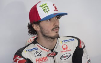 DOHA, QATAR - FEBRUARY 24: Francesco Bagnaia of Italy and Pramac Racing  looks on in box during the MotoGP Tests at Losail Circuit on February 24, 2020 in Doha, Qatar. (Photo by Mirco Lazzari gp/Getty Images)