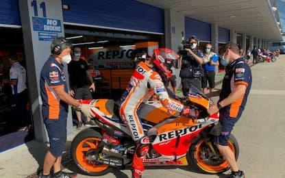Test Jerez: comanda Marquez, 3° Rossi