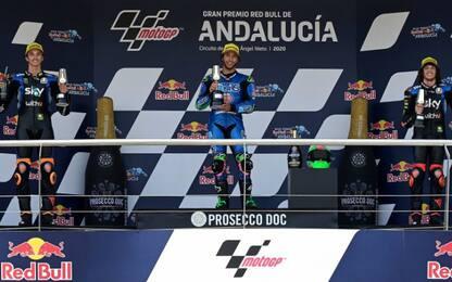 Moto2: 1° Bastianini, 2° Marini, 3° Bezzecchi