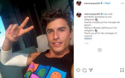 """Marquez su Instagram: """"Risollevarsi è un obbligo"""""""
