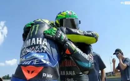 """Rossi abbraccia Morbidelli: """"Podio meritato"""""""