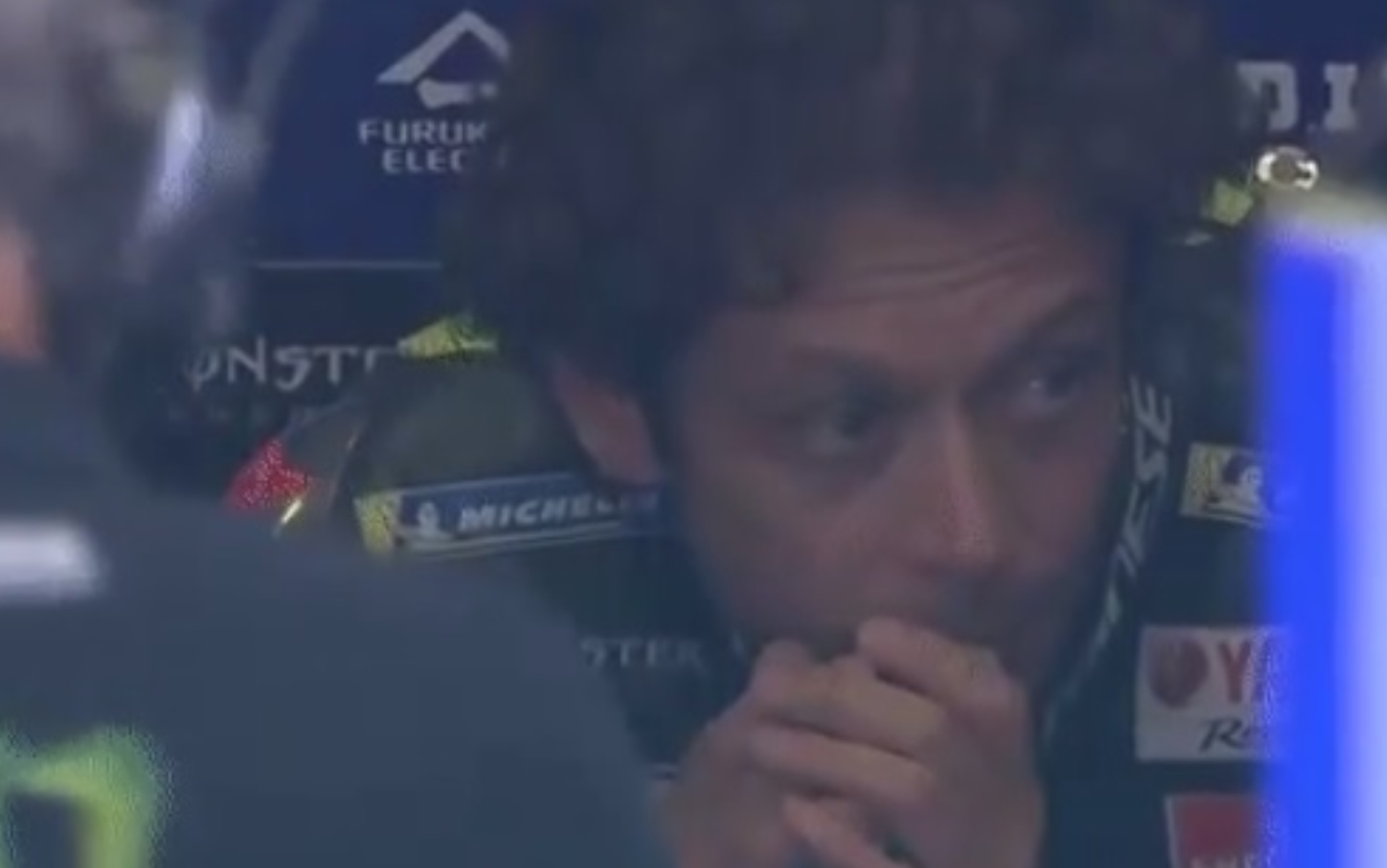 rossi incidente