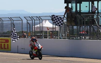SBK Teruel, super Rinaldi vince gara 1