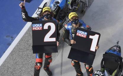 Moto2, Sky VR46 show: Marini in pole, 2° Bezzecchi
