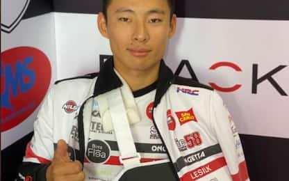 Moto3, Suzuki out: polso fratturato, verrà operato
