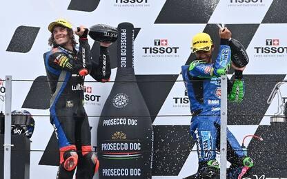 Moto2, trionfo di Bastianini davanti a Bezzecchi