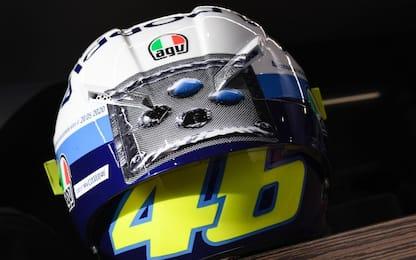 Rossi, una pillola in meno sul casco per il 2° GP