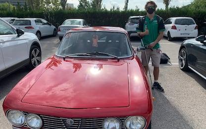 Gardner, che figo! Al circuito con l'Alfa GTV 2000