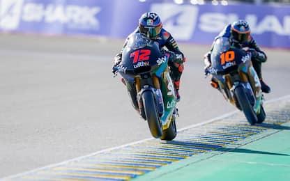 Pole Roberts a Le Mans: Bezzecchi 5°, 6° Marini
