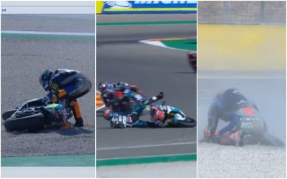 Moto2, le tre cadute che hanno cambiato il GP
