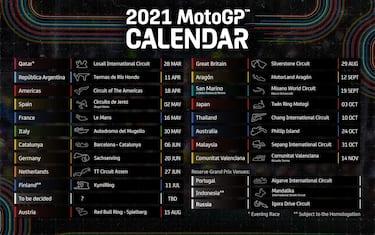 Calendario Campionato Motogp 2021 Calendario MotoGP 2021, la bozza con 20 GP e 3 'riserve' | Sky Sport