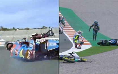 Dalla MotoGP alla Moto3, quante cadute decisive