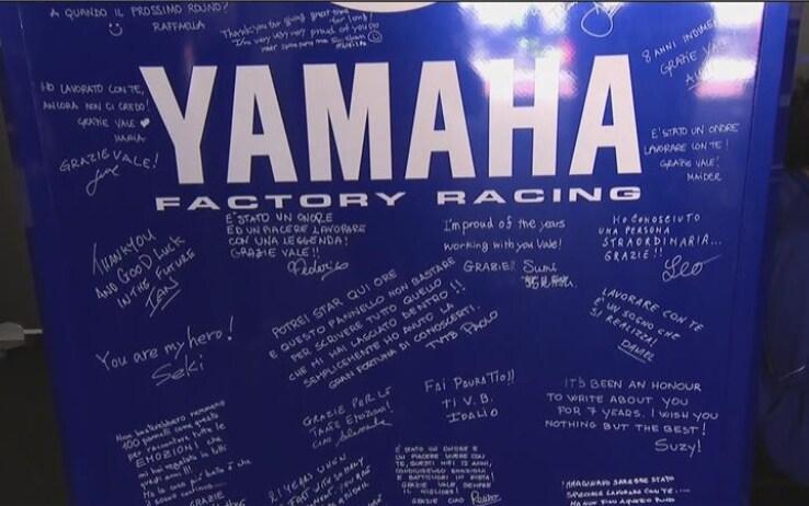 I messaggi del team Yamaha per Valentino Rossi