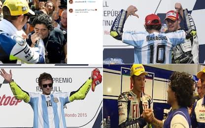 """""""Ciao mago Diego"""": l'omaggio di Rossi a Maradona"""