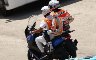 CIRCUITO DE JEREZ, SPAIN - JULY 17: Alex Marquez, Repsol Honda Team after crash during the Spanish GP at Circuito de Jerez on July 17, 2020 in Circuito de Jerez, Spain. (Photo by Gold and Goose / LAT Images)