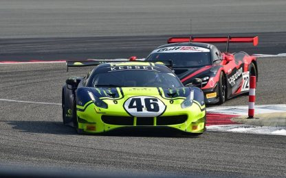 Rossi sulla Ferrari: spettacolo a Sakhir. FOTO