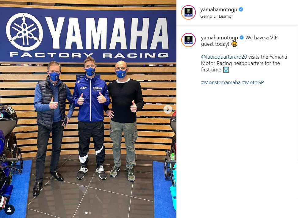Quartararo visita sede Yamaha